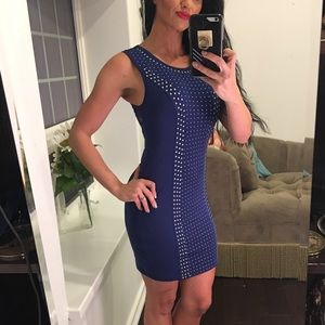 Forever 21 navy fun detail mini dress
